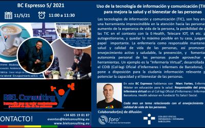 BC Espresso 11-5-21: Uso de la tecnología de información y comunicación (TIC), para mejorar la salud y el bienestar de las personas