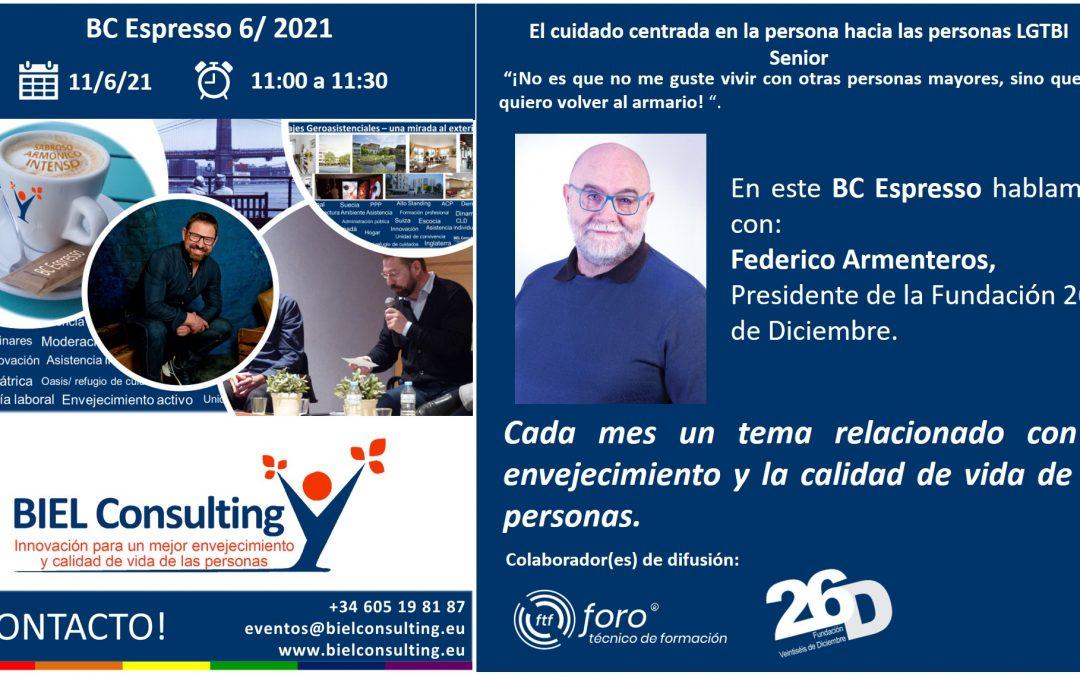 Cuidado centrada en las personas LGTBI Senior – BC Espresso con Federico Armenteros